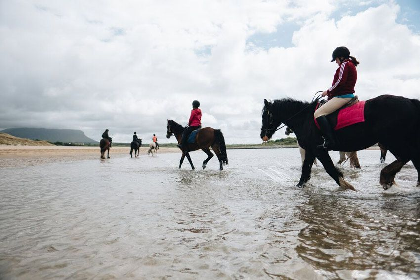 beach hacks at equestrian camps ireland