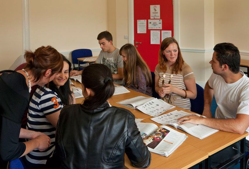 group at english classes in ireland