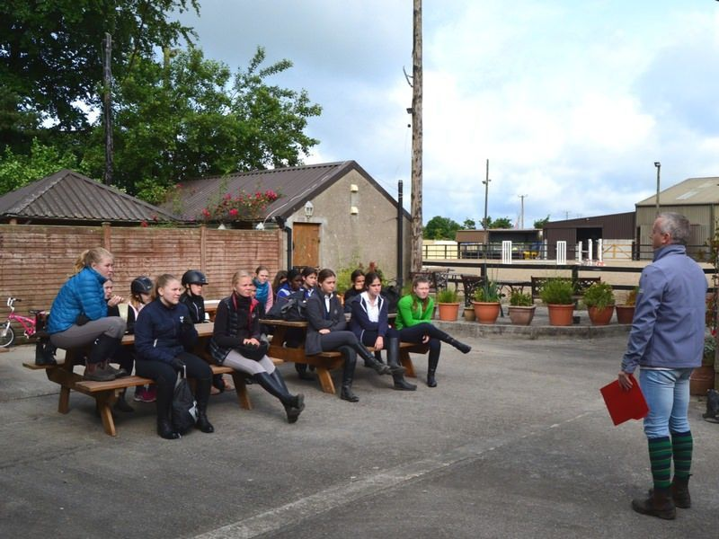 horse riders at intensive equestrian camps ireland